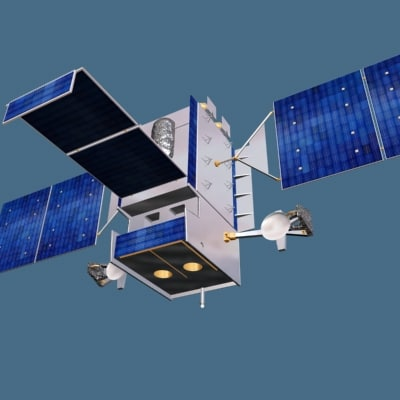 3d space-based sbirs satellite model - SBIRS Satellite... by artmaxwell