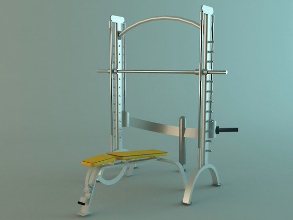 multi fitness machines scene 3d model - Multi Fitness Machines Collection... by Tornado Studio