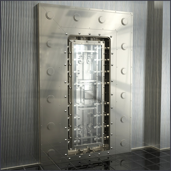 3d model vault door - SrP_Vault... by Out Of Light