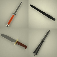 knife cutting 3d model