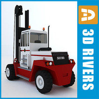 3ds max big forklift lift truck