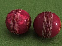 New and Used Leather Cricket Ball - High Quality Sports Equipment 3d model