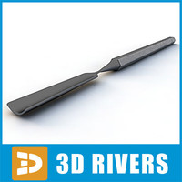 3d model cement spatula 02