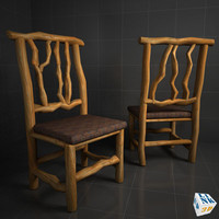 wood chair 3d max