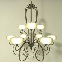 chandelier b lfc001 3d 3ds