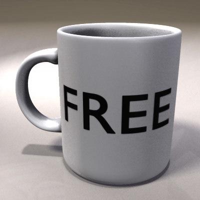coffee mug obj free