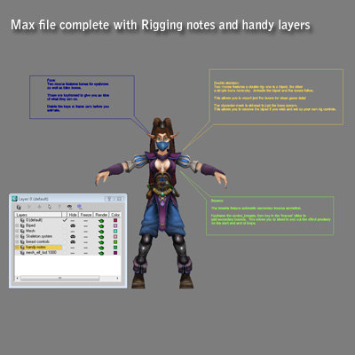 games moons ninja elf character 3d model - Two Moons the Ninja Elf... by Dave King Studio