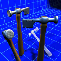 3ds max drywall hatchet 01 tools