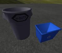 industrial garbage bin 3d obj