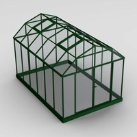 house green greenhouse 3d model