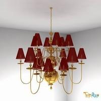 lamp chandelier 3d model