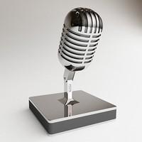 3d model mic microphone
