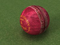 Used Leather Cricket Ball - High Quality Sports Equipment 3d model