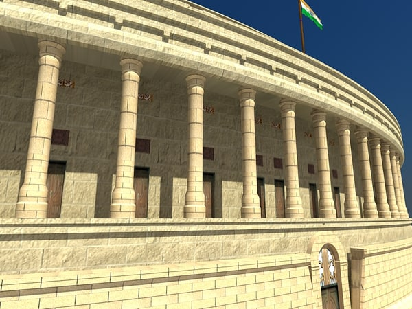 3dsmax parliament india - Parliament of India Exterior... by LSDhillon