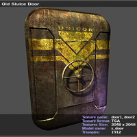 3d model old sluice door