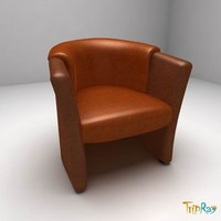 Leather armchair for visitors
