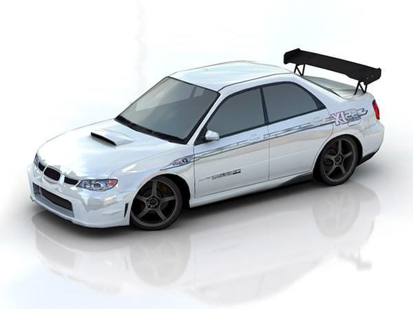 subaru impreza tuning 3d model. Black Bedroom Furniture Sets. Home Design Ideas