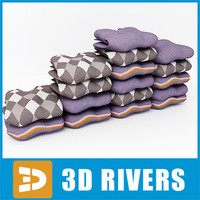 3d model folded sweater set clothes
