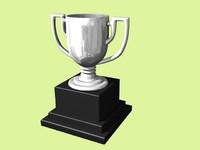 silver trophy 3d model