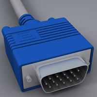 vga cable 3d max