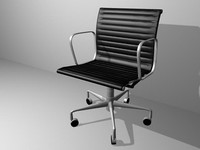3d eames aluminum management chair