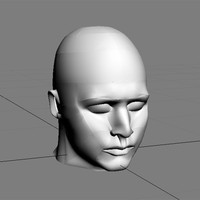 male head industrial design 3d model