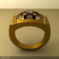 3dm men gold ring