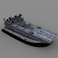 3d model bison amphibian ship vessel