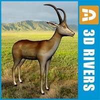 3d blue animals bluebuck