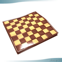 3d chess board offset model