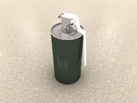 free fragmentation grenade 3d model