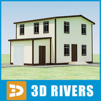 3ds max small town house building