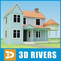 3ds max small town house 01