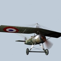 3d model monoplane world war