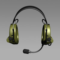mesh peltor headset 3d model