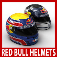 Sebastian Vettel and Mark Webber F1 Helmets