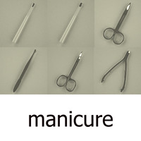 3d manicure man set