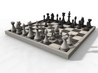 chess board 3d model