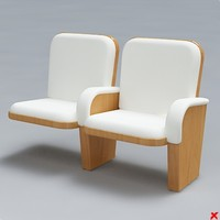 3d model of chair armchair