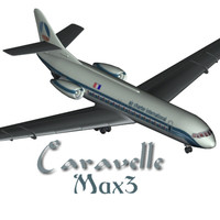 3d sud aviation caravelle model