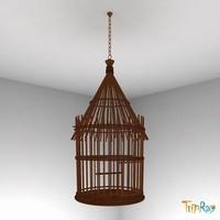 birdcage cage bird 3d max
