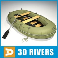inflatable fishing boat 3d max