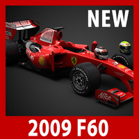 2009 F1 Ferrari F60 (car, helmets, steering wheel and seat)