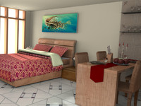 Studio Apartment Interiors - High Quality Interior Home 3d model