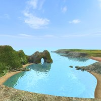 scenery beach 3d model