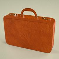 3d suitcase suit model