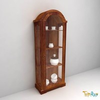 3d kitchen cabinet crockery model