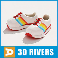3d kids shoes model