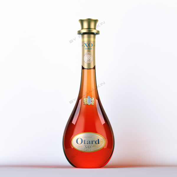 bacardi martini otard 3d model - Collection of spirits... by iljujjkin