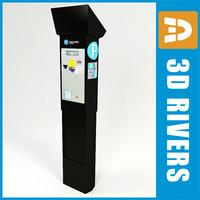 parking vending machine 3d model